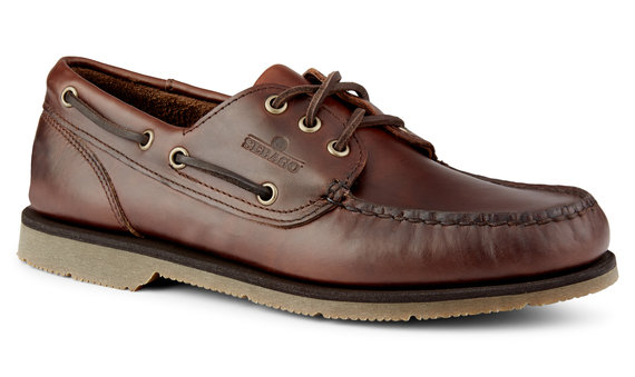 0a45494f Foresiders Waxed Leather Boat Shoe Dk Brown _ Gum for Mens | Loafer ...