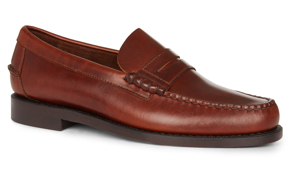 5182bea3548 CLASSIC DAN WAXED LEATHER LOAFER Brown Cinnamon for Mens