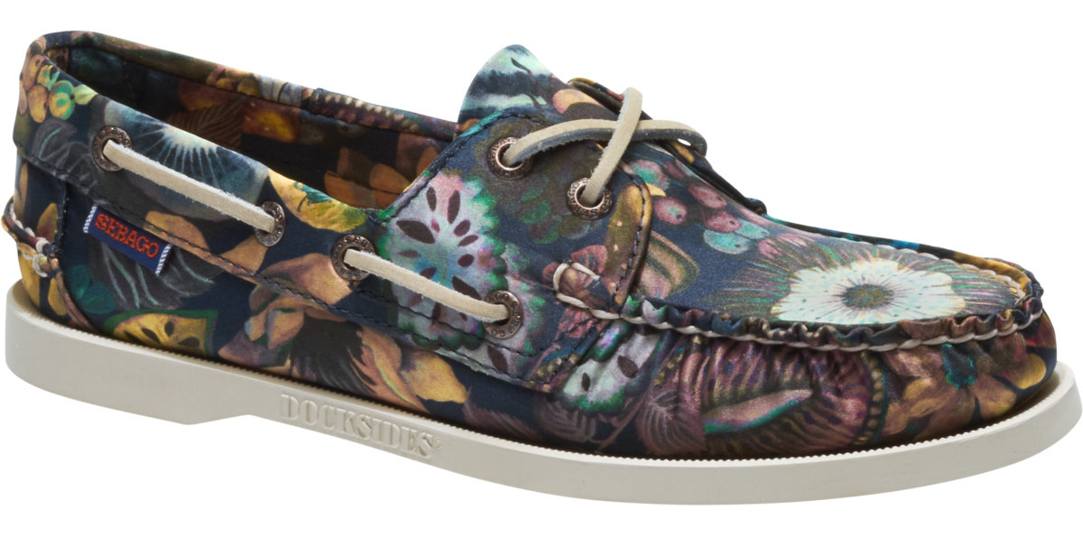 2aff994e609ae Docksides Liberty Leather Boat Shoe Garden Print for Womens | Loafer ...